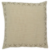 stitch cotton cushion - sof0761 nat/jute