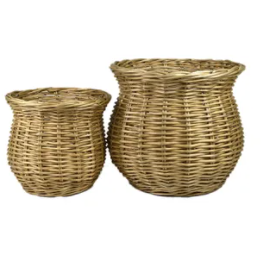 ana s/2 willow baskets - st2507 natural