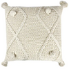 aron cotton knit cushion - sof0638 natural
