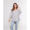 zoe knit jumper - grey marle - j160le