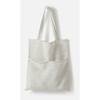 Pinstripe linen tote pepper/chalk- AIP0126