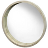 round nat wood deep rim mirror - fu2118