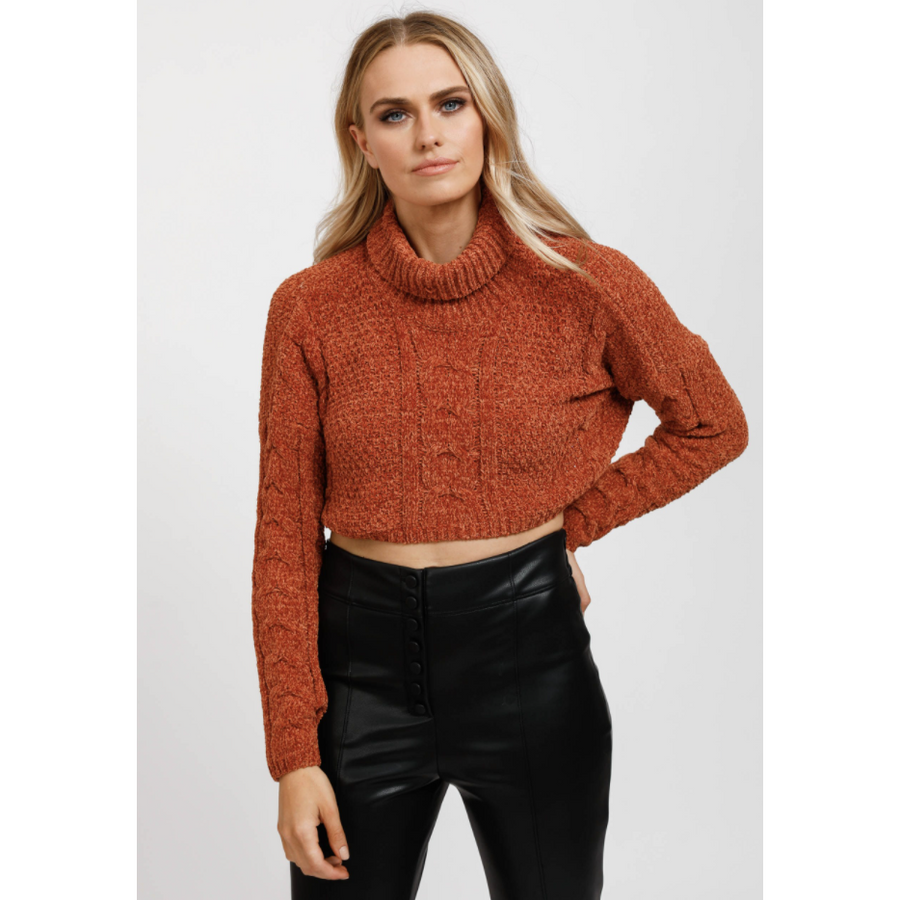 thieves polo knit - chestnut - ds532-1