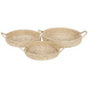 Kojo set of 3 date leaf trays 45x8cm natural