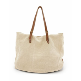 natural carry all bag - beige