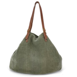 natural carry all bag - green