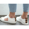 peony heart leather sneakers