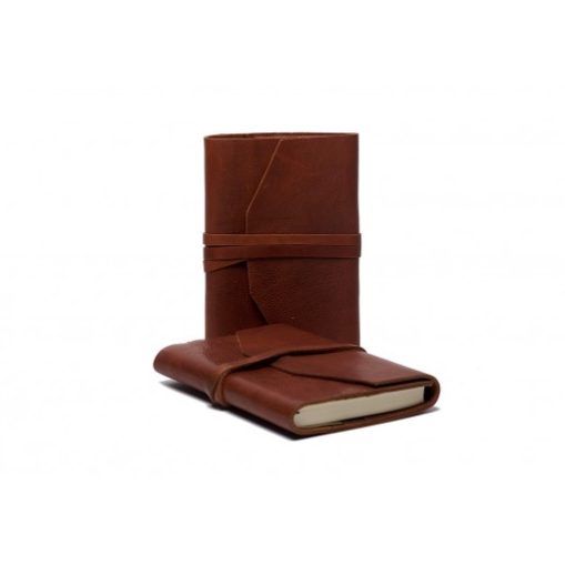 leather journal cover - brandy