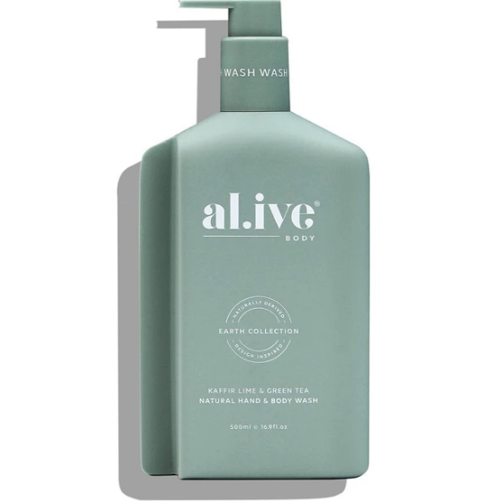 al.ive kaffir lime & green tea hand & body wash