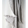 foam reversible throw - linen cotton blend