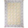 hand block printed tablecloth - 6 seater - stc2027 jaune