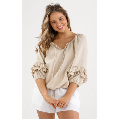footloose top linen viscose