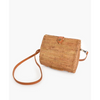 rattan clutch with leather strap - axa-2111