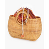 wicker small circle handle basket - axa-2110