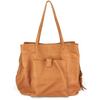large leather tote- tan