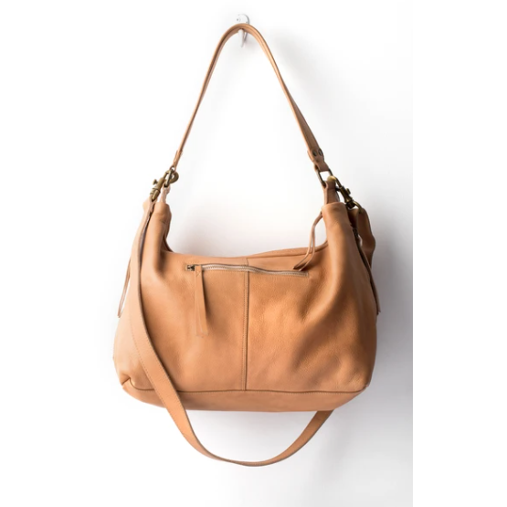 small leather slouchy natural