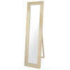 rectanglar natural wood mirror w/stand 44x174cm