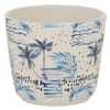 tropics ceramic pot blue