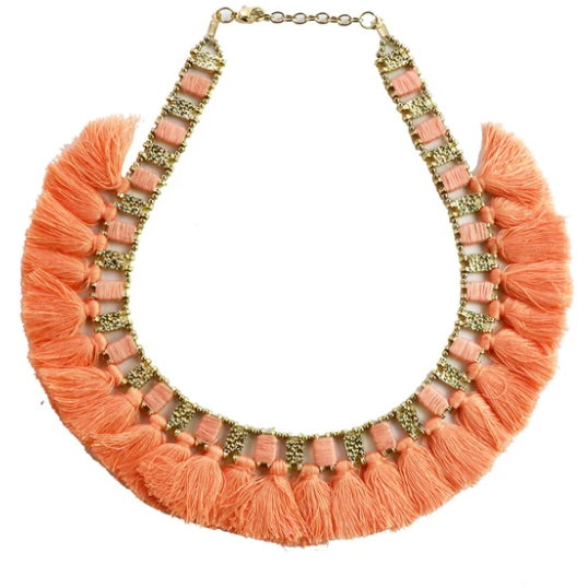 Link Necklace - Peach