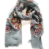 Scarf Grey 100% Wool - 4384