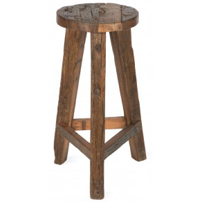 Recycled wooden barstool BX80