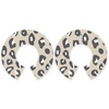 Latte animal print big halo earring EBHSLATA4