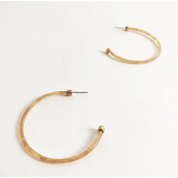 Thin resin hoop earrings AED1616 - cara