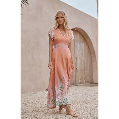 JAASE Tully Maxi Dress 2019358B - Dawn print