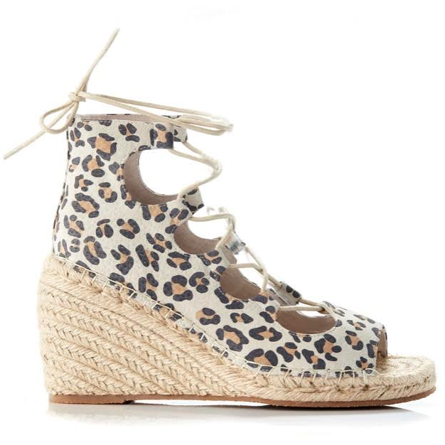 Vine Leather Wedge VILW-TLP - Tan Leopard