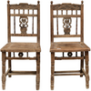 Old Chinese carved chair DL024