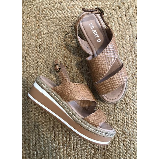 Pamelia Weave Leather Sandals 928899 - Cafe