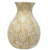 Summer Ceramic Vase - 958746 / 745 - Mustard & White