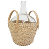 Vino Glass Bottle w Rattan Base - 961213 / 212