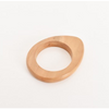 Uneven Curved Timber Bangle - ACA-2208-TANX