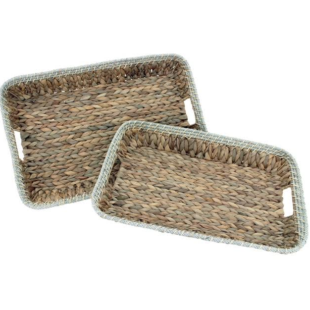 Rectangular tray with rope - HNA04 - Natural