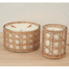 Lida rattan wrapped candle 9020 - nature