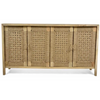 Timber and Handwoven Jute 4 Door Buffet - AV03