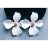 Small Orchid Flower Stud Earring - ZB-2004 - White
