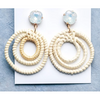 Kali Rattan Drop Earrings - CC-1008