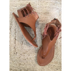 Lace up Toe Thong - Tezz - Tan