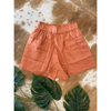 Linen Pocket Shorts - N19100306 - Copper