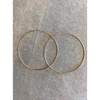 SS Rose Gold Hoop Earrings 1.5mm x 80mm - SE330-RG