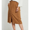 Mila Wrap Skirt - S19112120 - Coffee