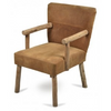 Palermo Leather with Wood Features Chair - AS35
