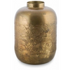 Iron Vase w/Embossed Pattern - GL07 - Brass Colour