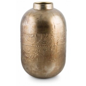 Iron Vase w/Embossed Pattern - GL18 - Nickel Colour