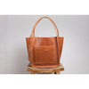 tote bag walnut leather