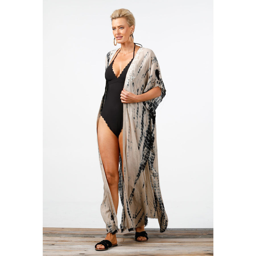Magnetic Cape - H788-1 - black tie/dye
