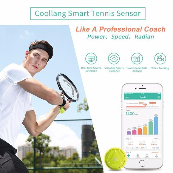 STA Smart Tennis Training Swing Analyzer Bluetooth, Activity Tracker Compatible with Android & IOS Phone - Supreme Tennis Athletes