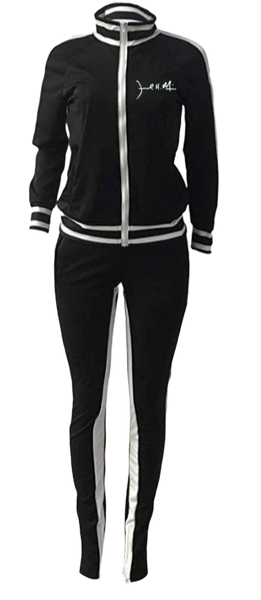 Womens 2-Piece Cold Shoulder Tracksuit